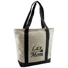 Lax Mom Cotton Canvas Tote Bag