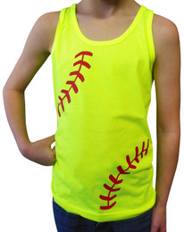 Softball Laces Girl's Tank Top