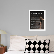 "Gymnastics Pose 13.75"" x 17"" Wall Decal in room"