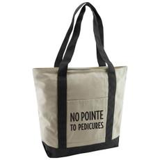 No Pointe to Pedicures Cotton Canvas Tote Bag