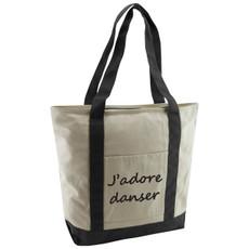 J'adore Danser Cotton Canvas Tote Bag