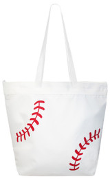Baseball Laces Tote Bag