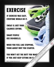 Framed Exercise Fitness 8x10 Sport Poster Print