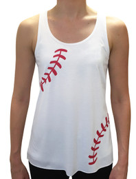 Women's Baseball Laces Flowy Tank Top
