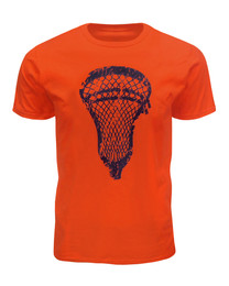 Men's Lacrosse Head T-Shirt in Orange
