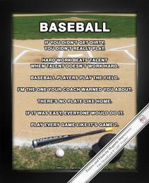 Framed Baseball Field 8x10 Poster Print