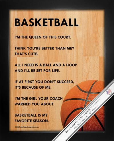 Framed Basketball Female 8x10 Sport Poster Print