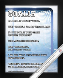 Framed Ice Hockey Goalie Net 8x10 Sport Poster Print