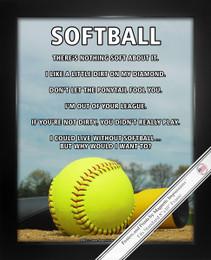 Framed Softball Sky 8x10 Sport Poster Print