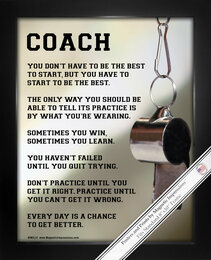 Framed Coach Motivational 8x10 Poster Print