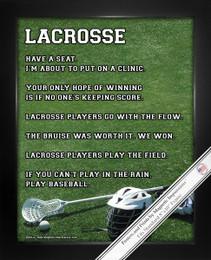 Framed Lacrosse Male Helmet 8x10 Poster Print