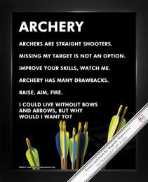 "Framed Archery Arrows 8"" x 10"" Sport Poster Print"