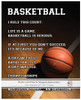 "Basketball on Court 8"" x 10"" Sport Poster Print"