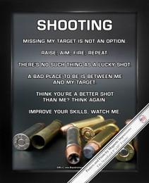 "Framed Shooting 8"" x 10"" Sport Poster Print"