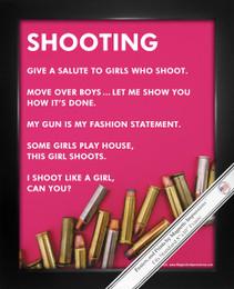 """Framed Shooting Girl 8"""" x 10"""" Sport Poster Print"""
