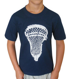 Boy's Youth Lacrosse T-Shirt in navy