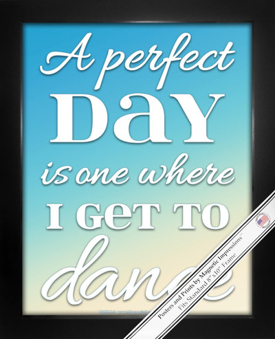 "Framed Dance Perfect Day 8"" x 10"" Sport Poster Print"
