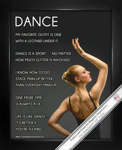 "Framed Dance Pose 8"" x 10"" Sport Poster Print"