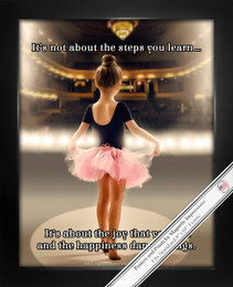 "Framed Little Dancer 8"" x 10"" Sport Poster Print"