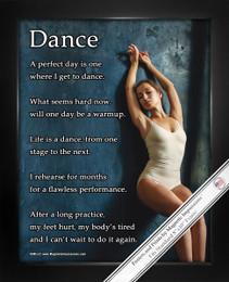 """Framed Dance Leaning 8"""" x 10"""" Sport Poster Print"""
