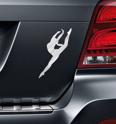 Dancer Modern Leap Car Magnet on car