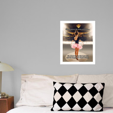 "Little Dancer 13.75"" x 17"" Dance Wall Decal in room"