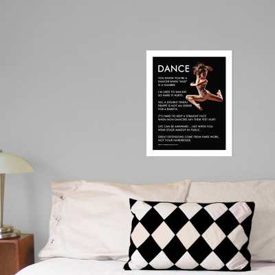 "Dancer Jump 13.75"" x 17"" Dance Wall Decal in room"