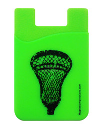 Lacrosse Head Cell Phone Wallet in lime