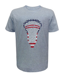 Boy's Youth Lacrosse American Flag T-Shirt - USA Lacrosse Head