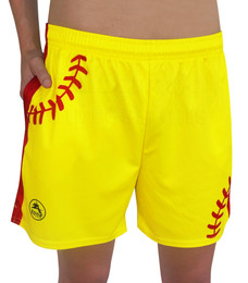 Women's Softball Laces Athletic Shorts