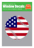 Baseball Softball USA American Flag Decal Sticker