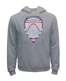 Men's Lacrosse Goalie American Flag Hoodie Sweatshirt-USA
