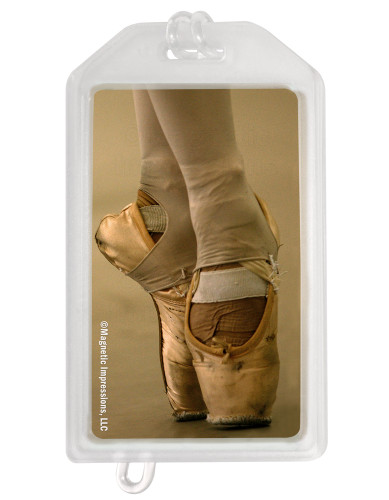 Ballet Shoes Dancer Plastic Luggage Tag front