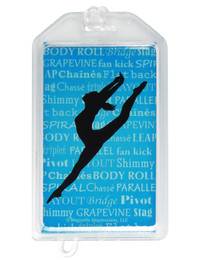 Modern Dancer Leap Plastic Luggage Tag front