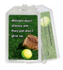 Softball Inspirational Winners Quote Plastic Luggage Tag front and back
