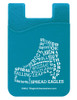Figure Skate Boot Typography Cell Phone Wallet in teal