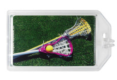 Lacrosse Women's Sticks Photo Plastic Luggage Tag front