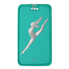 Modern Dancer Leap Luggage Tag in aqua