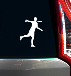 Disc Golf Player Male Car Window Decal on Car