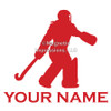 Field Hockey Goalie Window Decal in red