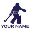 Field Hockey Goalie Window Decal in blue