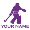 Field Hockey Goalie Window Decal in purple