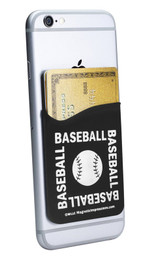 Baseball Word Typography Cell Phone Wallet. Phone and cards not included.