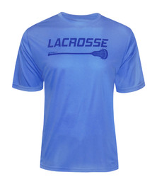 Men's Lacrosse Stick Performance T-Shirt in Carolina Blue