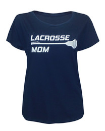 Women's Lacrosse Mom Stick Dolman T-shirt