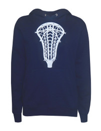 Women's Lacrosse Head Hoodie Sweatshirt in Navy