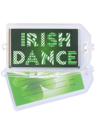 Irish Dance Patterns Plastic Luggage Tag front and back