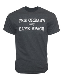 Men's The Crease is my Safe Space Goalie Saying T-Shirt