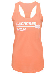 Women's Lacrosse Mom Stick Tank Top Shirt in creamsicle