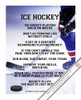 "Ice Hockey Player Just Details 13.75"" x 17"" Vinyl Wall Decal"